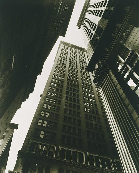 Cave to Canvas, Berenice Abbott, Canyon: Broadway and Exchange...