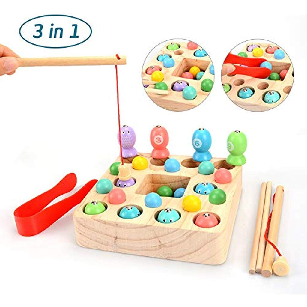 Oymmeney Holzspielzeug 3 In 1 Angelspiel Fische Spielzeug Montessori Lernspielzeug Magnettafel Kinderspielzeug F Kinder Spielzeug Kinderspielzeug Holzspielzeug