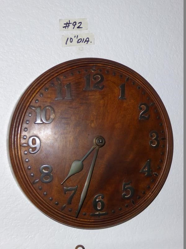 Lot 92 Antique Solid Wood Zenith 18 day Swiss Made Wall Clock