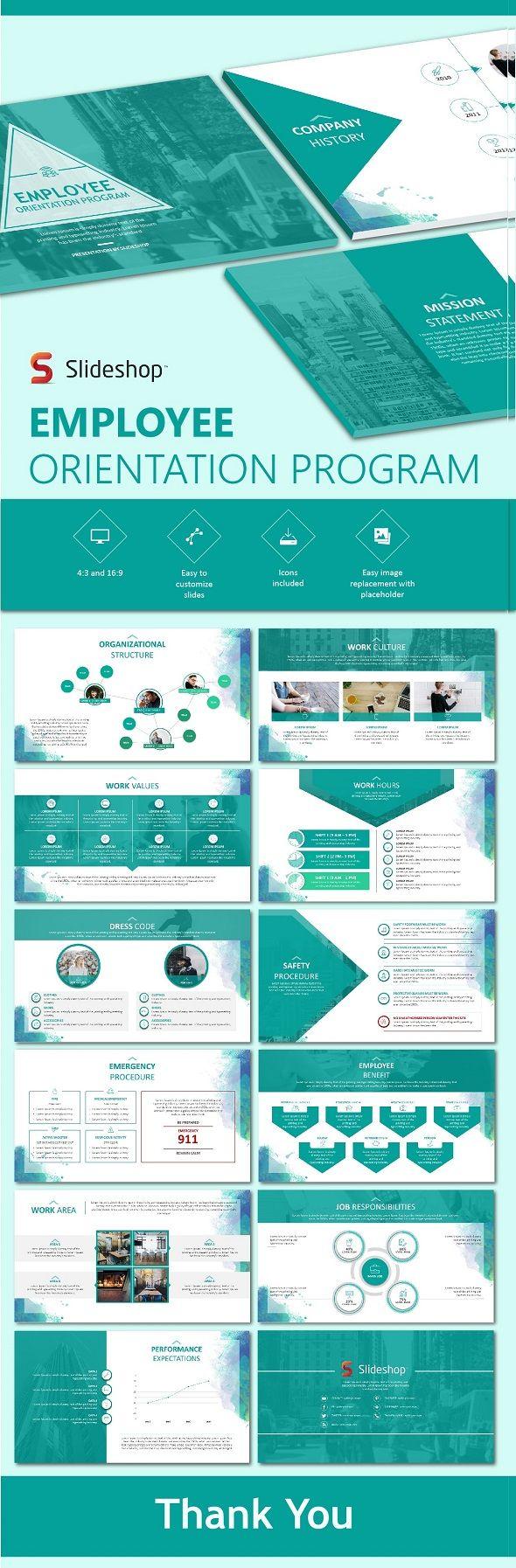 employee orientation program | orientation programme, presentation, Modern powerpoint