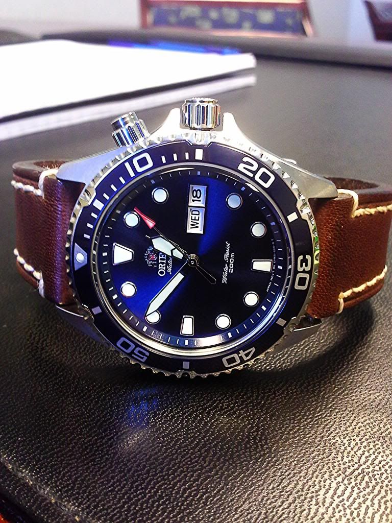 Orient Ray Vs Mako Vs Leather Strap Buscar Con Google Seikos