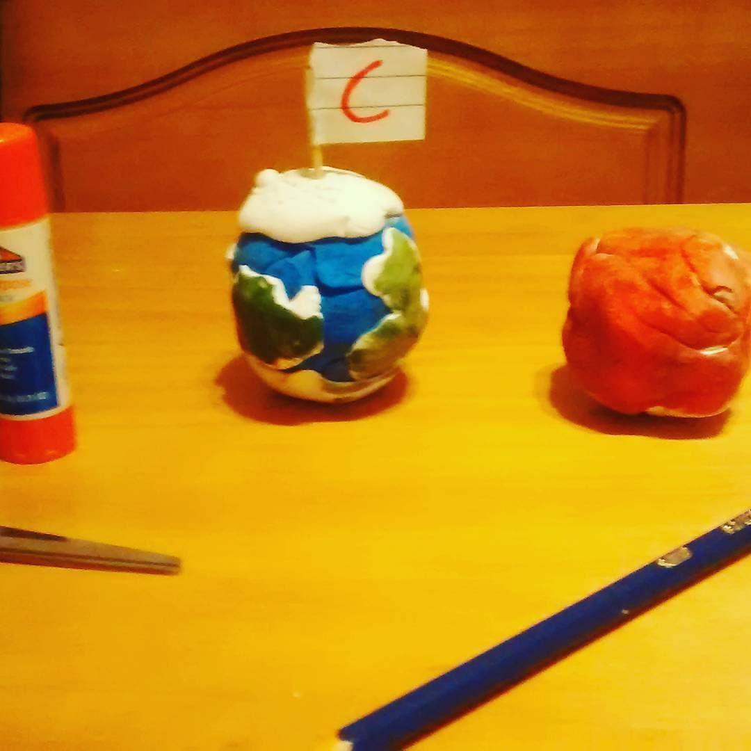 provocative-planet-pics-please.tumblr.com #artandscience #planets #earth #mars #projectsathe #teachyourkids #parentsareteachers #bigboy #lovestolearn #socurious #art #clay #painting #christopher #sosmart by adunlapp https://www.instagram.com/p/BBCxbqGBHuW/