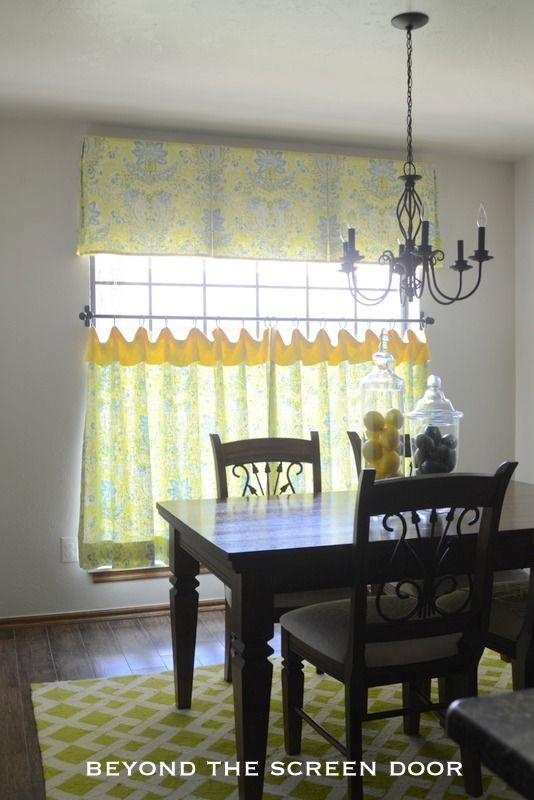 Kitchen Cafe Curtains Apron Sink Lemon Lime Curtain And Valance Beyond The Screen Door