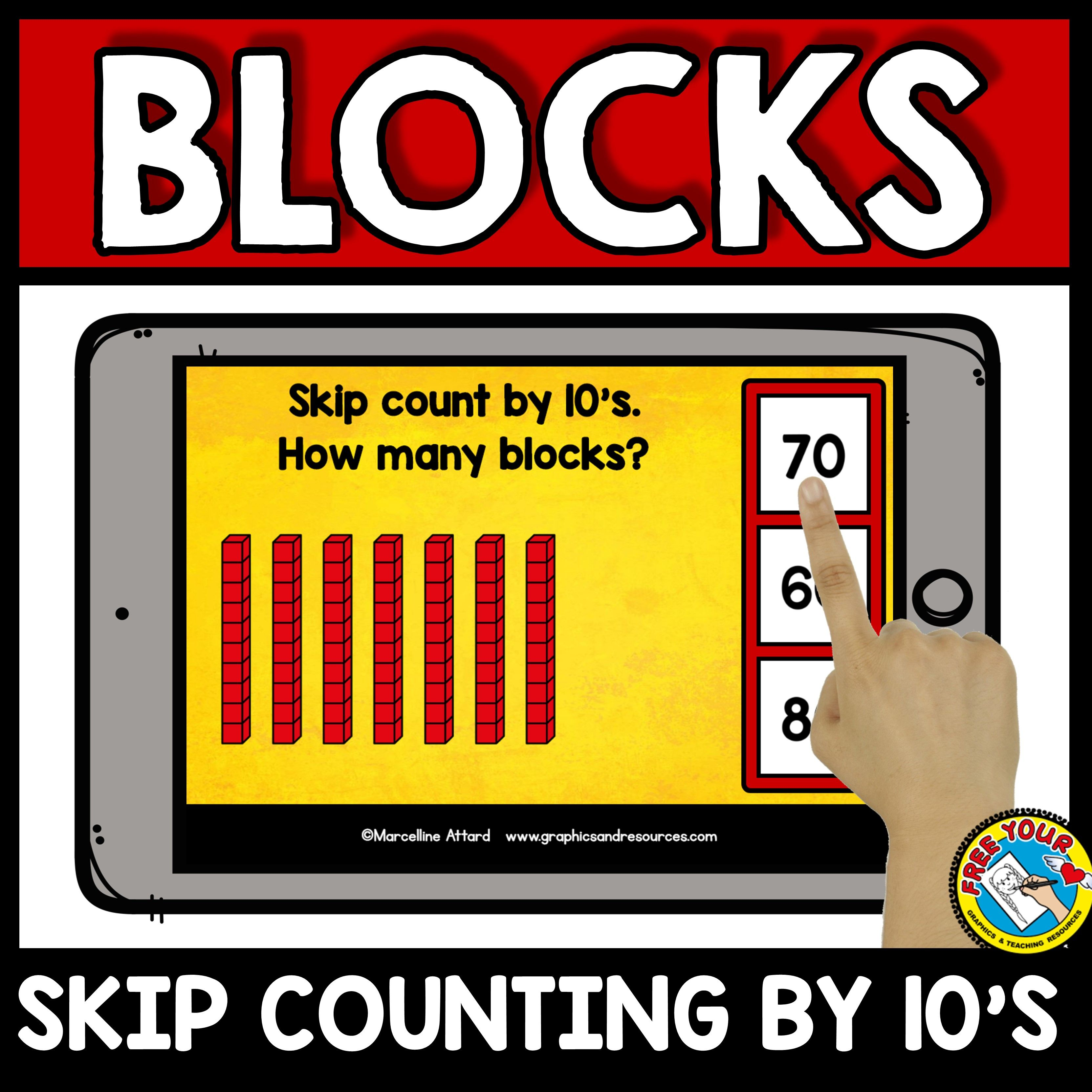 Base Ten Blocks Skip Counting By 10 S Task Cards Cubes