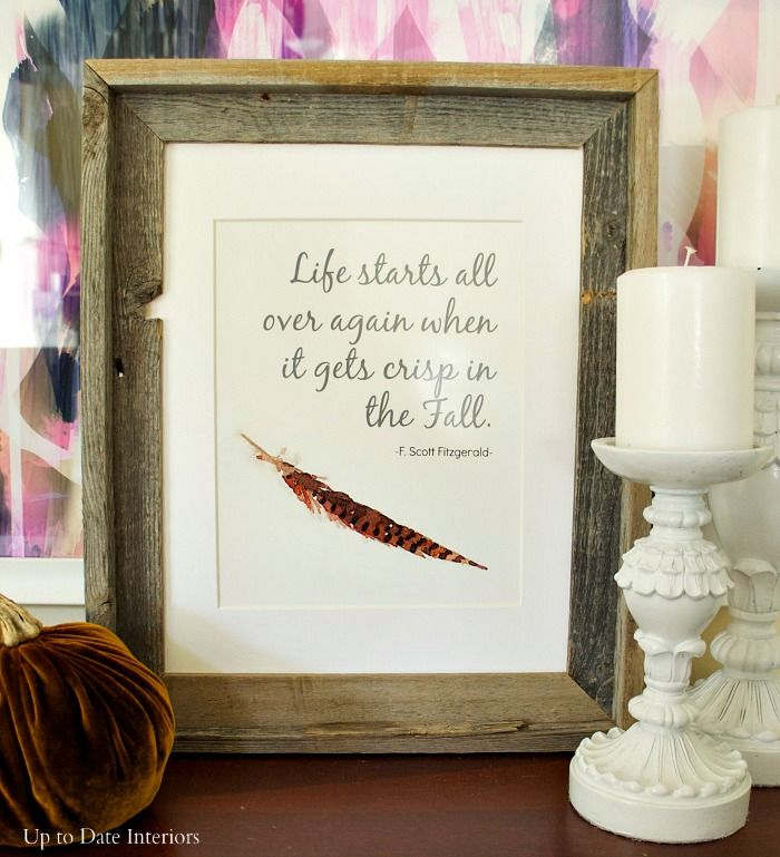 Fall Quote {Free Printable} - Up to Date Interiors