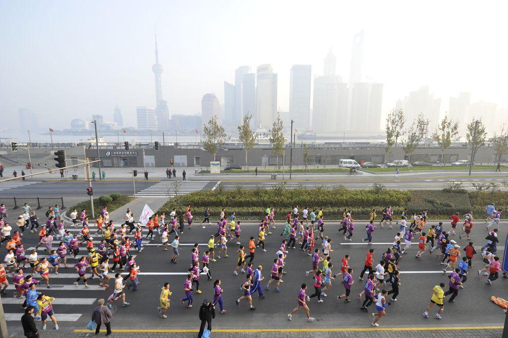 Go East Your Life is Safe There Shanghai, Marathon, Park