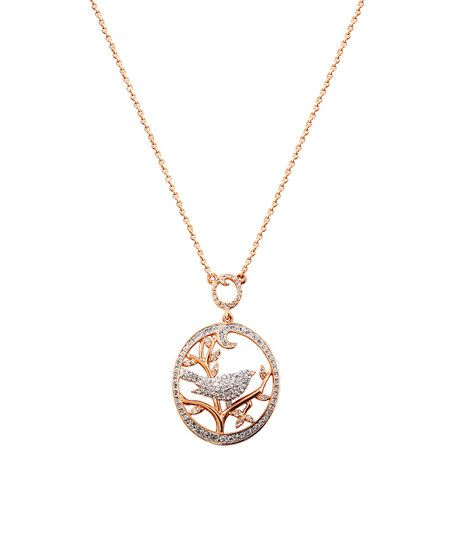 Amabel Designs Rose Gold & Crystal Curve Necklace | zulily