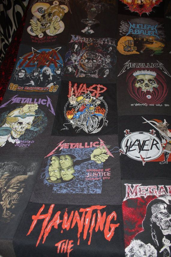 Heavy metal t-shirt quilt!