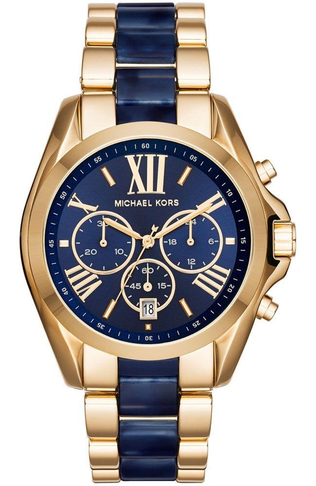 7f4dc091ec9e Michael Kors Bradshaw Blue Dial Chronograph Men s Watch MK6268 in ...