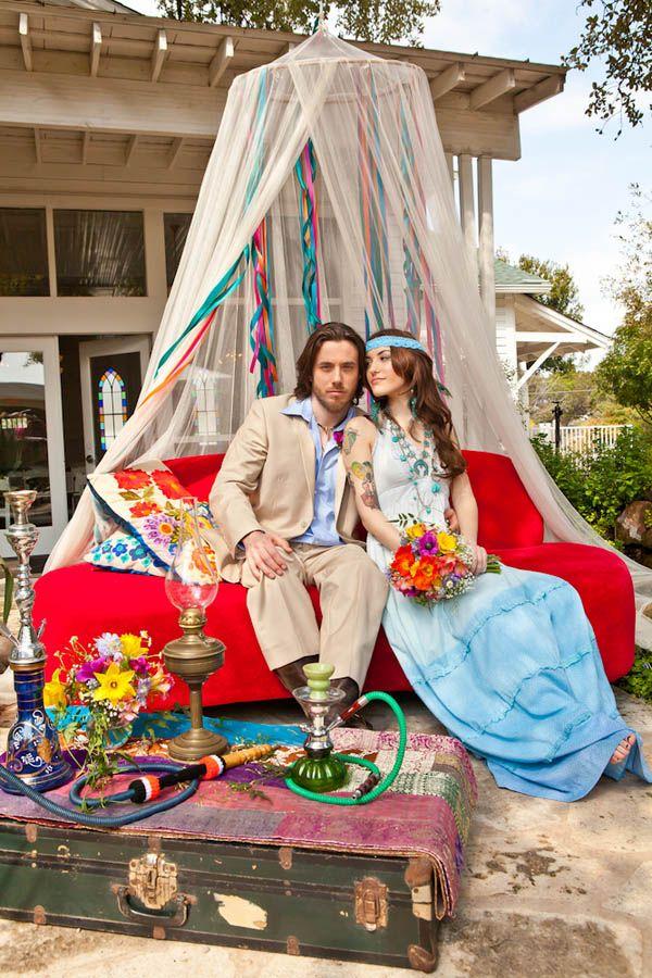 70s Theme Wedding Styled Shoot Via Rocknrollbride Featuring Jessica