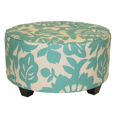 Skyline Furniture - Round Tufted Cocktail Ottman in Gerber Surf ...