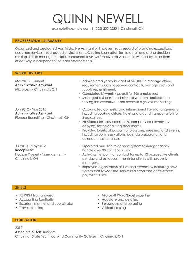 Chronological Format Resume Format Resume Key Words Resume