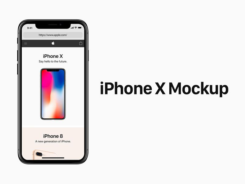 Iphone X Psd Mockup Iphone Mockup Psd Iphone Iphone Mockup