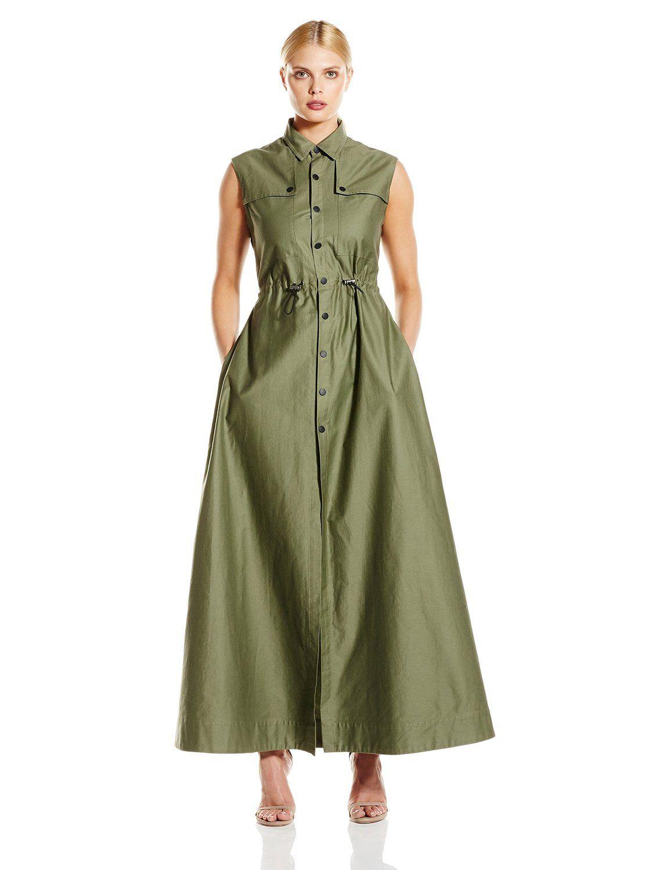 cfa92315211d7 CADET Clothing Women's Cotton Sleeveless Long Dress at Amazon ...