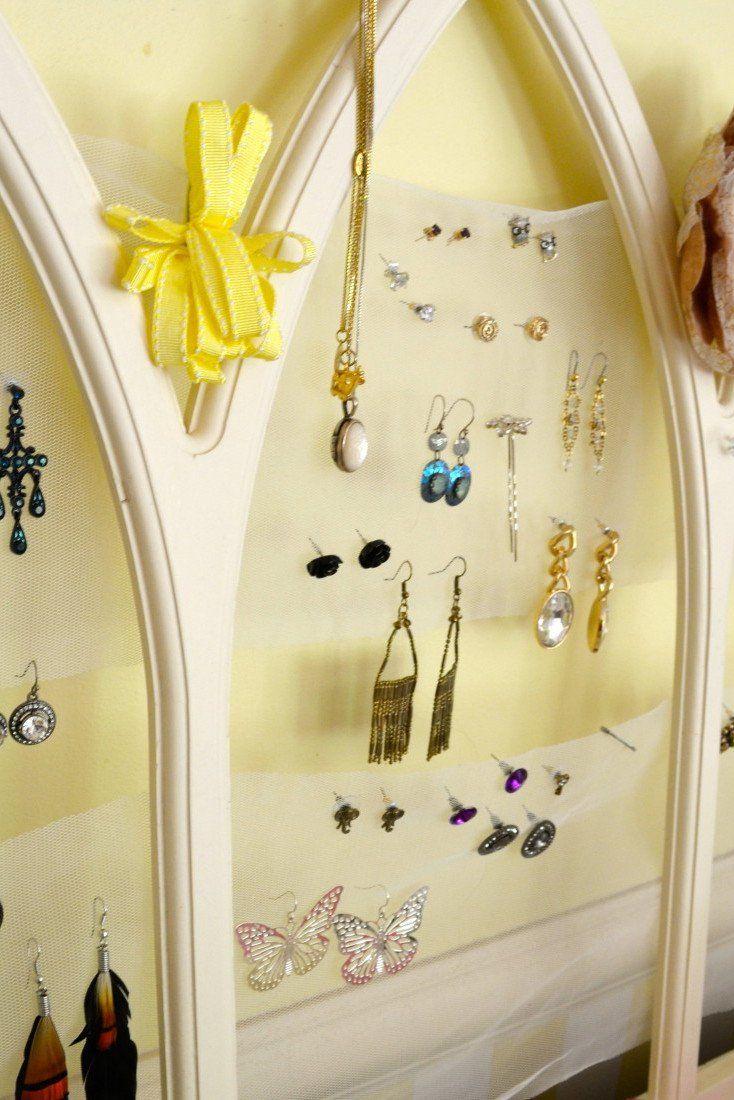 DIY Tulle Frame Jewelry Holder Jewellery holder Diy jewelry