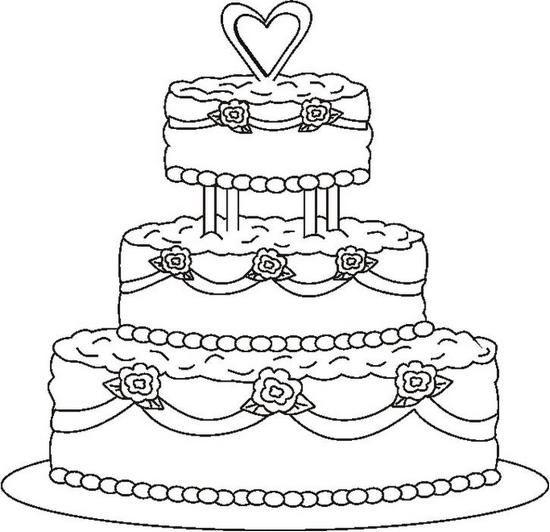 Http Coloringbookfun Com Wedding Originalimages Weddingcake1bw Jpg Wedding Coloring Pages Cupcake Coloring Pages Birthday Coloring Pages