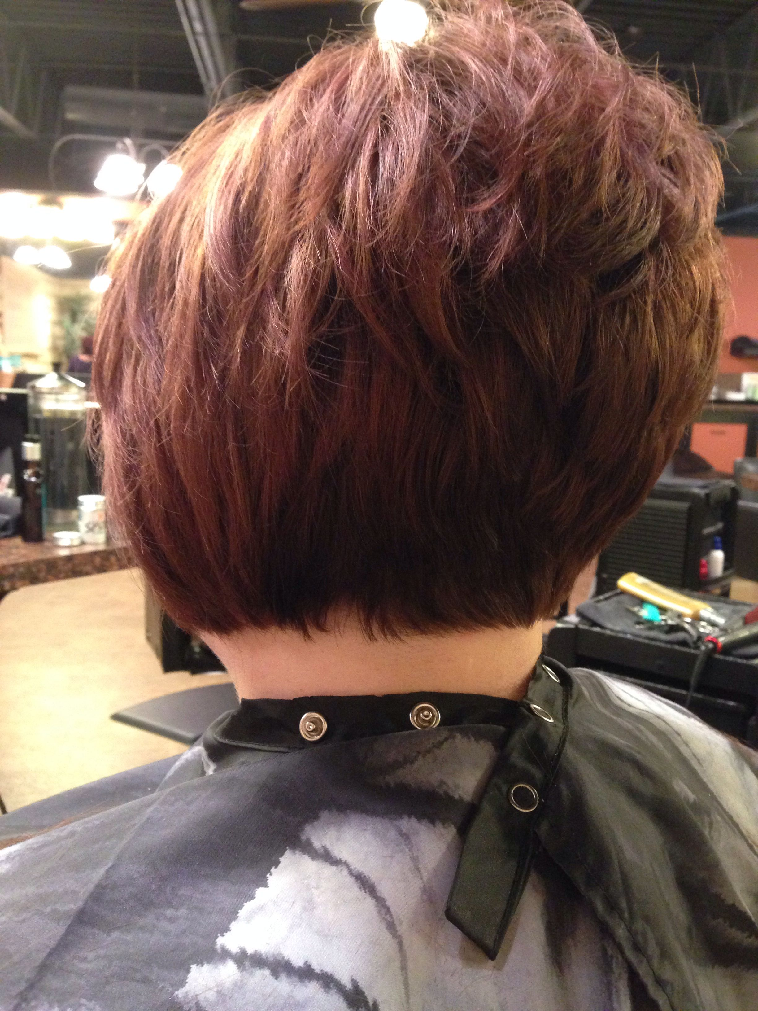inverted bob haircut. awesome stack