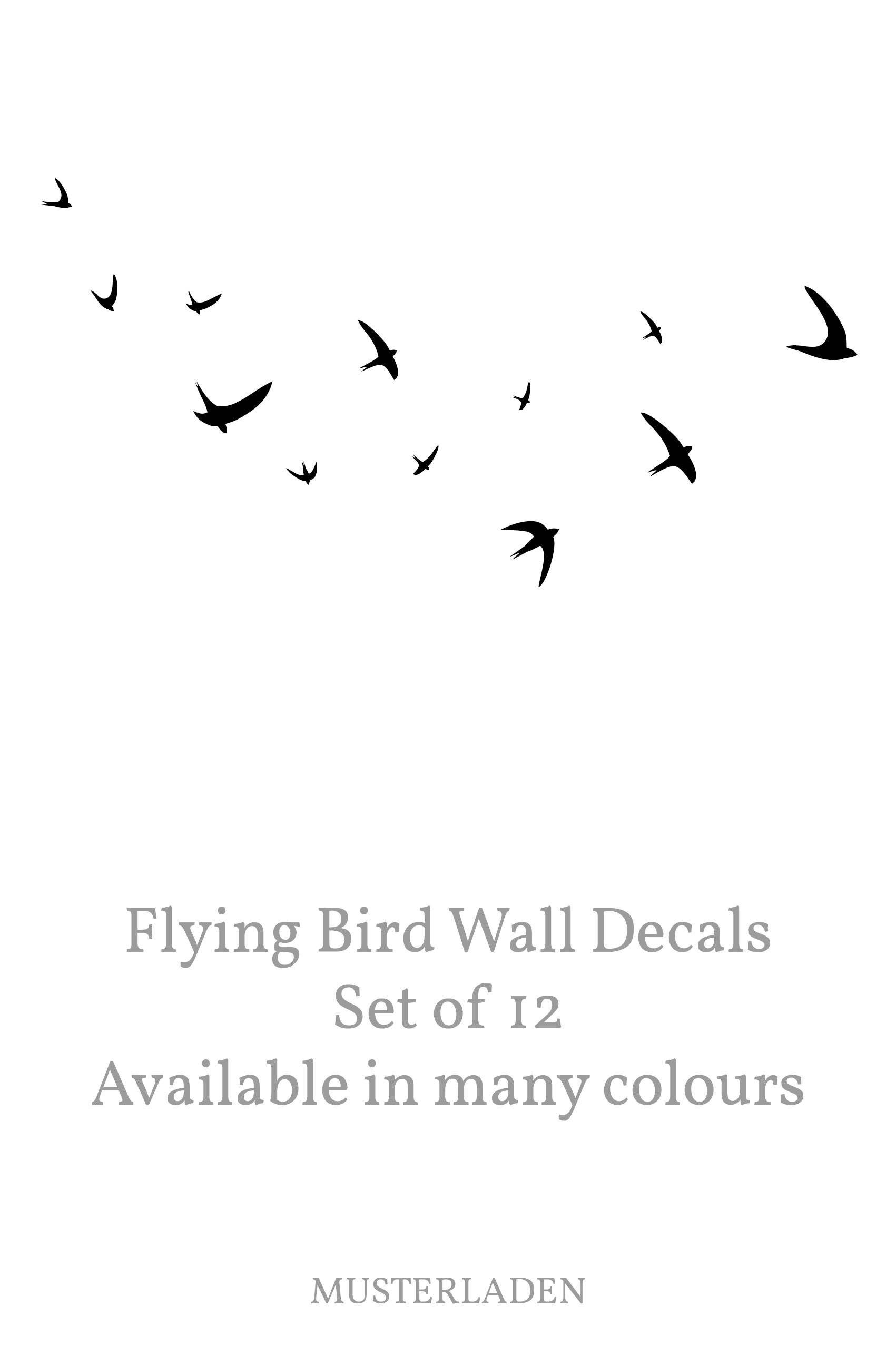 Bird Wall Decal Flying Bird Wall Decal Set of 12 Swallows Minimal Birds Decal Vinyl Bird Stickers Removable Flying Bird Vinyl Decal  sc 1 st  Pinterest & Bird Wall Decal Flying Bird Wall Decal Set of 12 Swallows Minimal ...