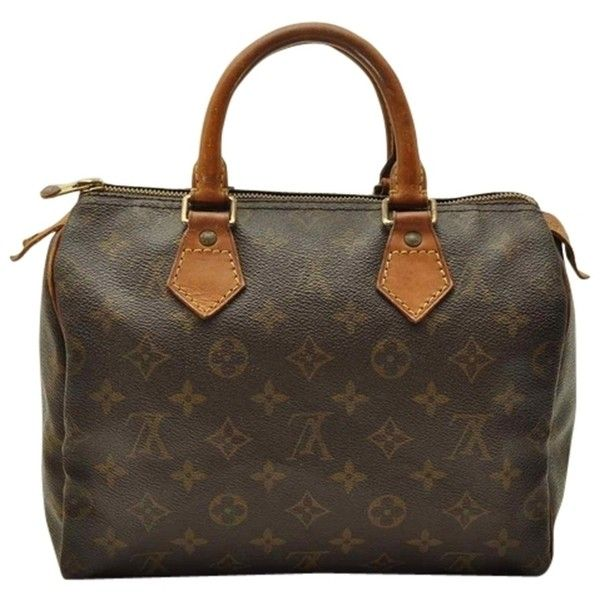 Pre Owned Louis Vuitton Monogram Speedy 25 M41528 Hand Lv 14817 234 Liked On Polyvore Featuring Bags Handbags Shoul Monogram Speedy Monogram Speedy 25