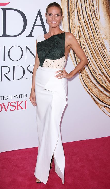 Heidi Klum in a Roland Mouret dress - click through to see more best dressed at the 2016 CFDA Awards