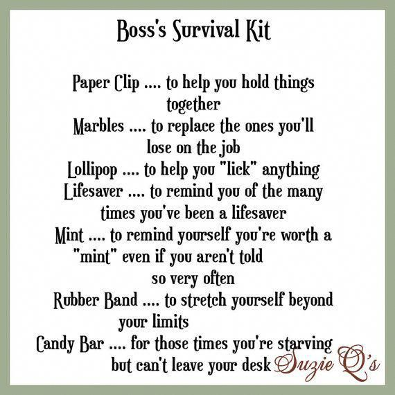 Boss's Survival Kit includes Topper and Card by SuzieQsCrafts #bossesdaygiftideasoffices