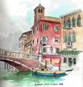 Ponte De Le Guglie Venise 2013 Voyage Aquarelle Paysage