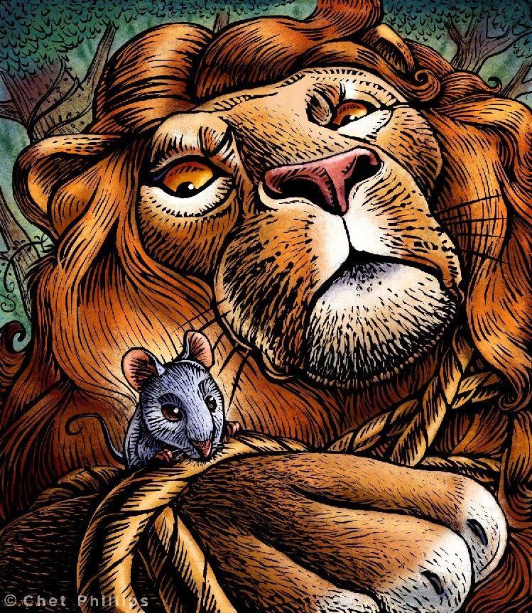 Aesop 39 s fables le lion et le rat fables pinterest - Image le lion et le rat ...