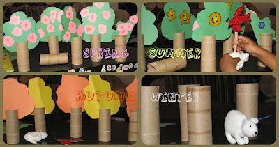 Forever Friends: Four seasons Play with tp roll trees   Craft To Art