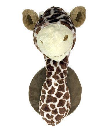 Another Great Find On Zulily Fauxidermy Giraffe Head Plush Wall Mount Zulilyfinds Giraffe Head Giraffe Giraffe Plush