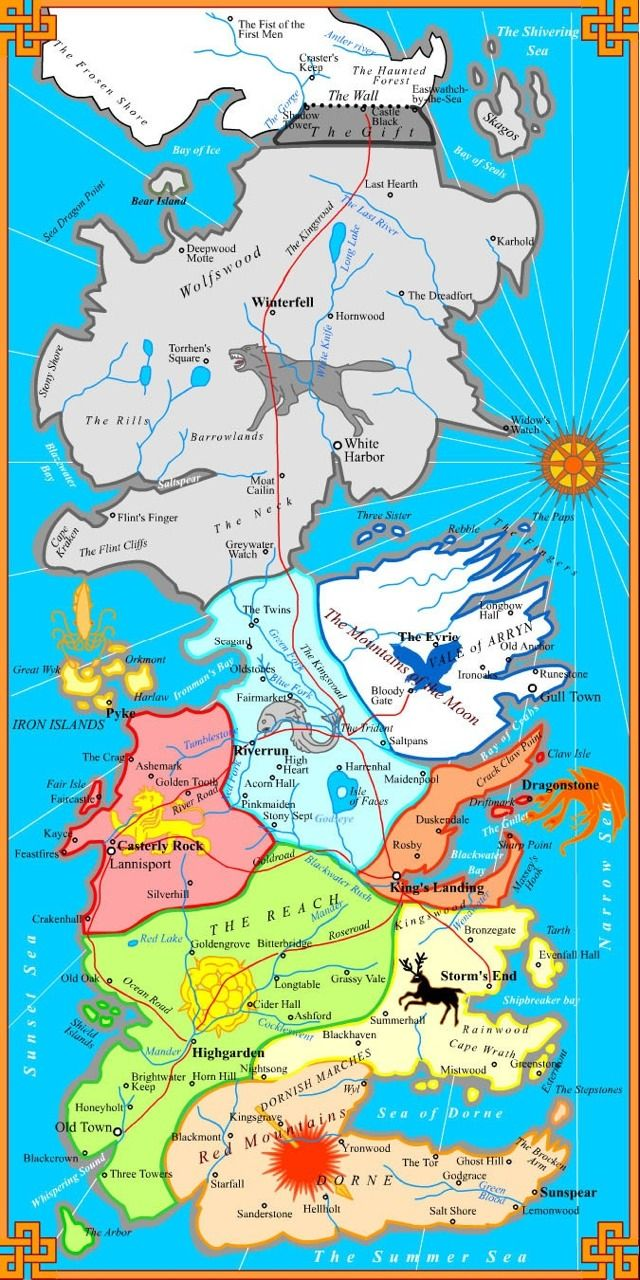 game of thrones map | My Inner Geek | Pinterest | Gaming, Books and TVs