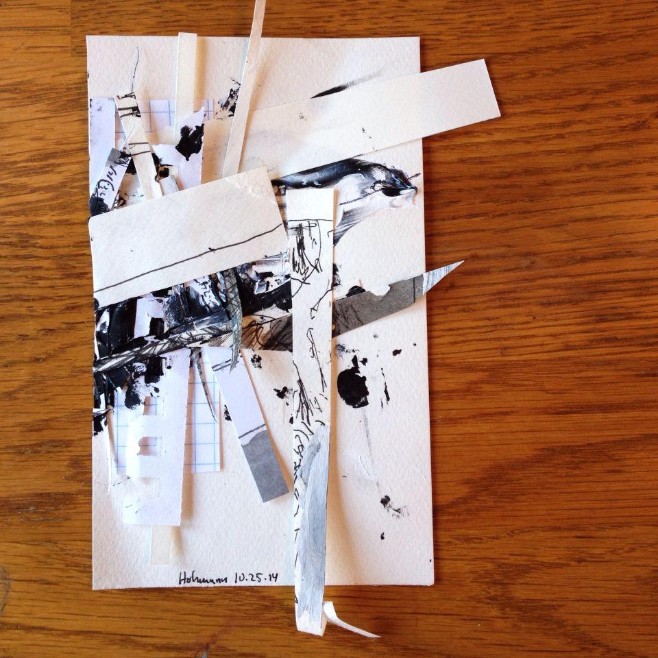 10.25.14 #hohmann #mixedmedia #collage #pen #ink #paint #paper