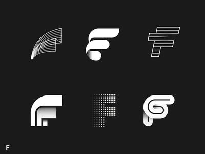 Alphabet Project F Vol 1 Initials Logo Design Text Logo Design Letter Logo Design