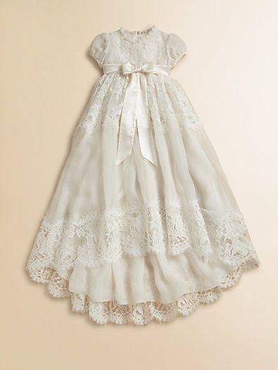 8fa5072b93d24 Dolce & Gabbana - Infant's Lace Baptism Dress | Babies | Christening ...
