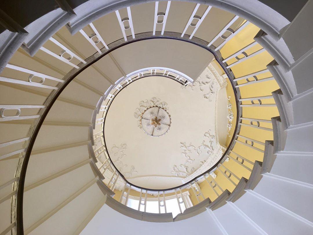 "Irish Houses And Castles on Instagram: ""The spiral staircase at Killshannig House, . . . . . . . . . . . . . . . . . . . . . . . . #greatirishhouses #irishcountryhouses…"""