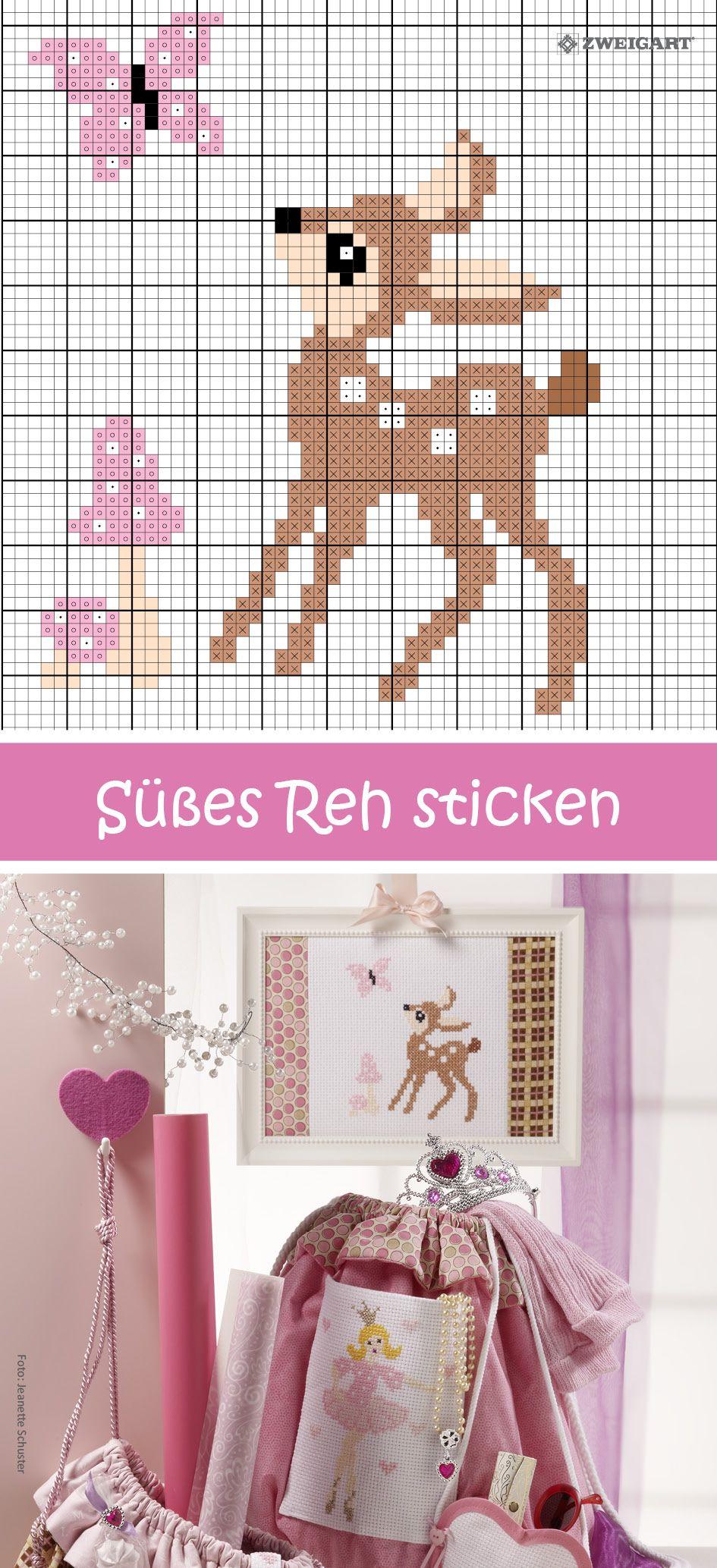 Photo of Süßes Rehkitz sticken – Entdecken Sie zahlreiche kostenlose Stickkarten!