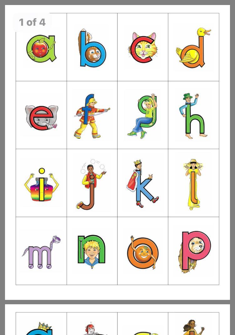 Letterland Phonics Cards Vocabulary Cards Alphabet Preschool [ 1068 x 750 Pixel ]
