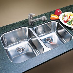 Blanco B440234 Supreme Stainless Steel Undermount Double Bowl