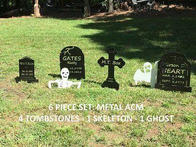 Graveyard Tombstones, Ghost, Skeleton Yard Decor - Weatherproof w - pinterest halloween yard decor