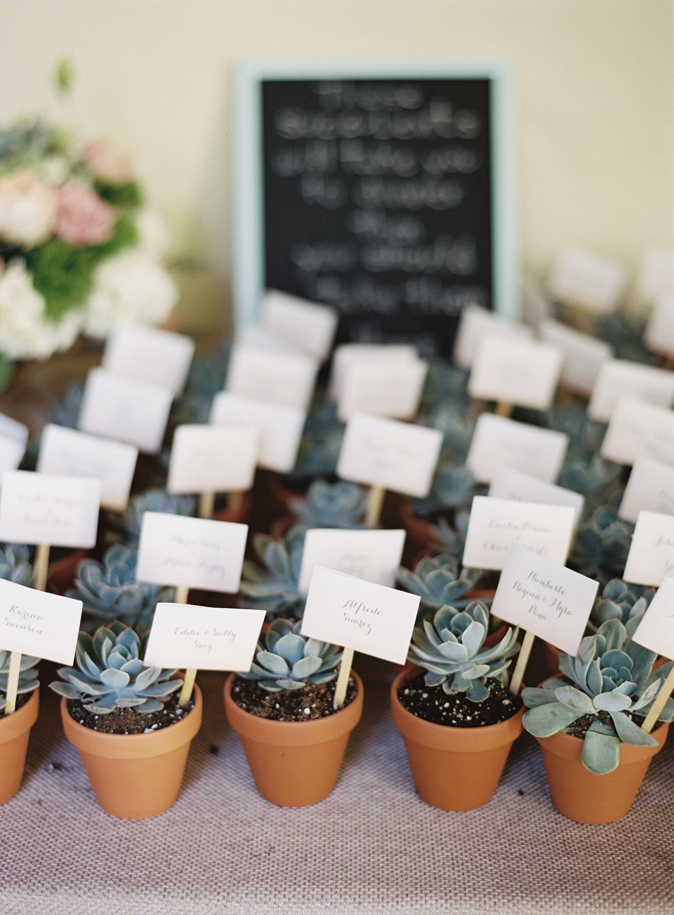 #succulent wedding #favors | Photo: http://www.ozzygarcia.