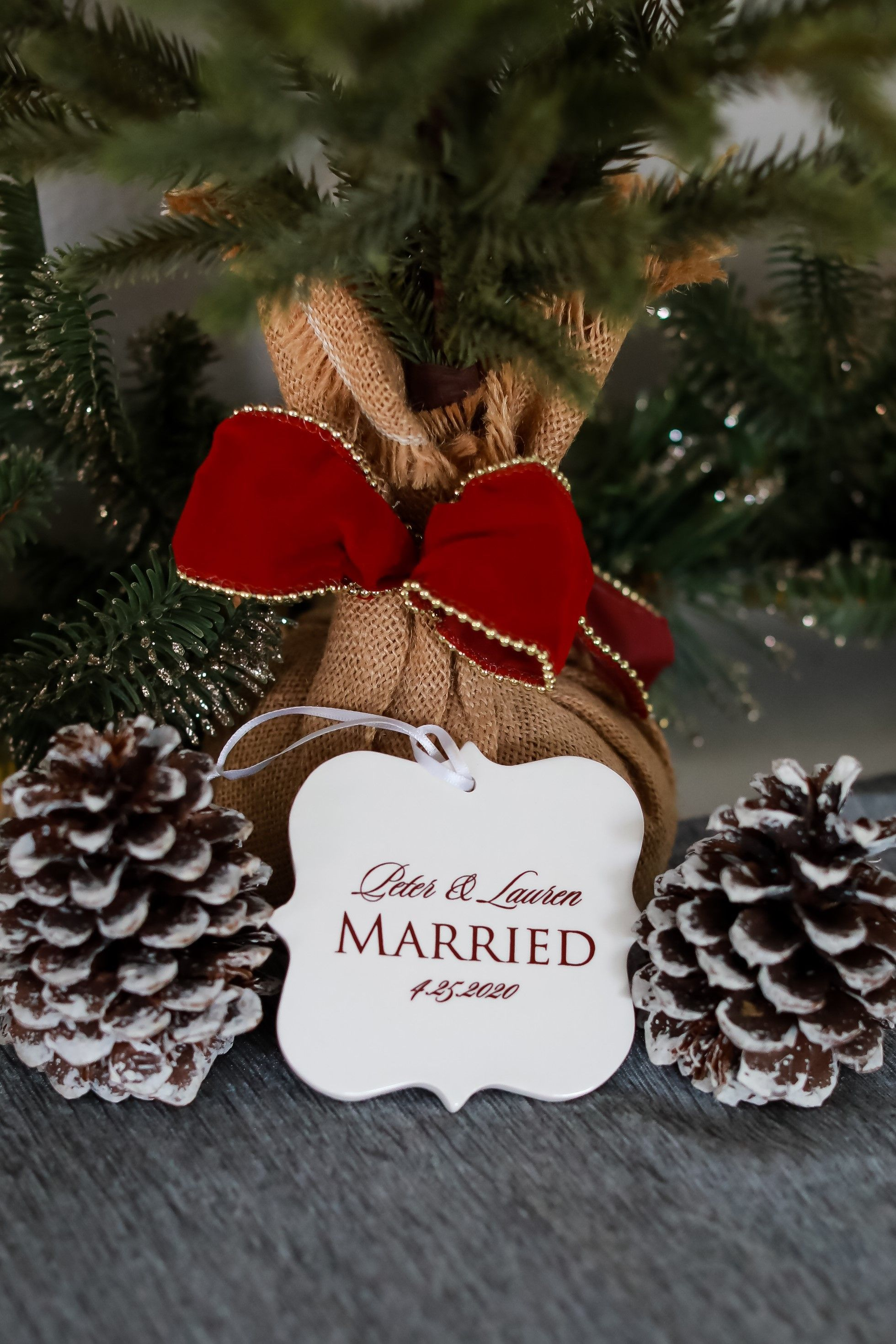 Just married ornament our first christmas wedding