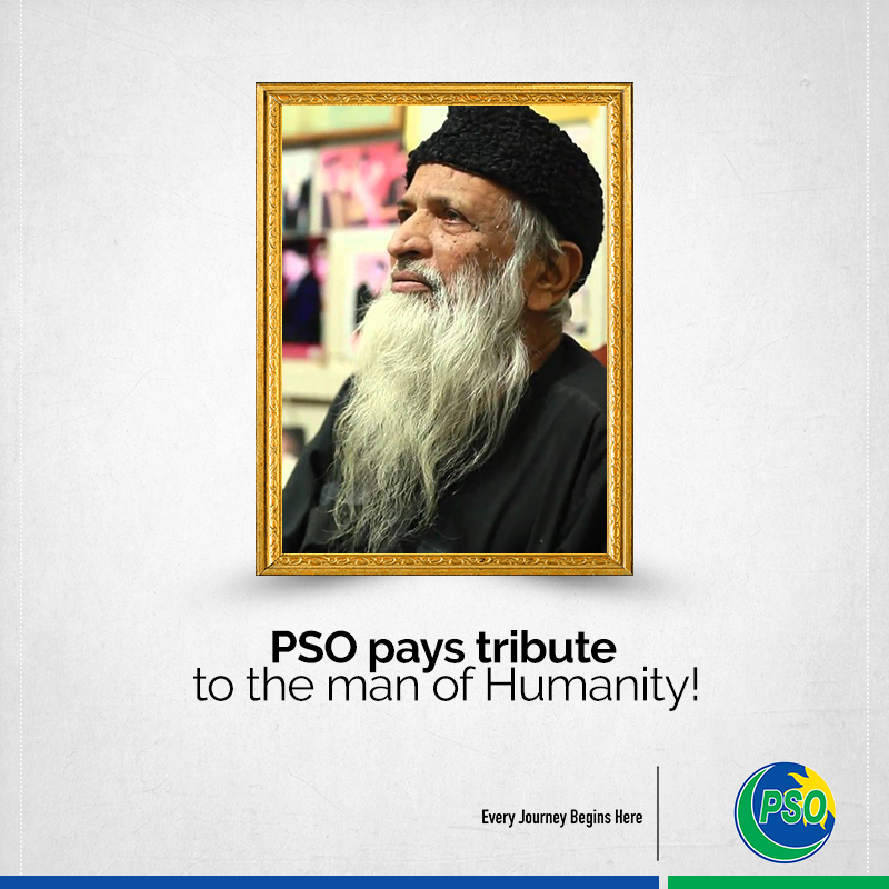 PSO pays tribute to Abdul Sattar Edhi on his 89th birth