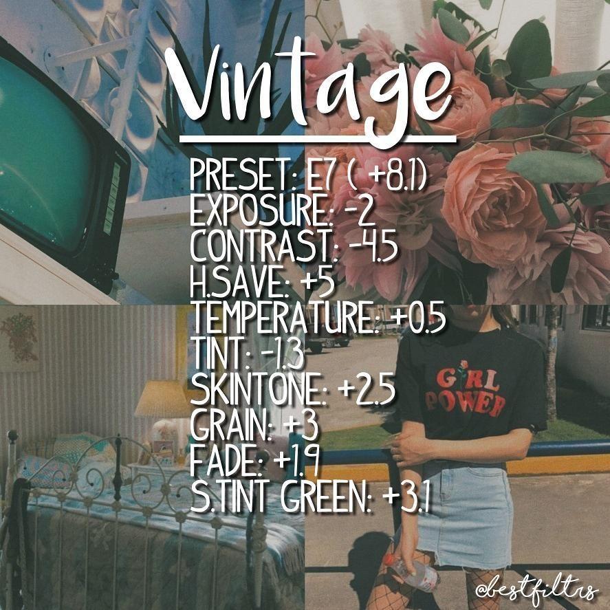 VSCO FILTERS ♡♡ Type: Vintage faded theme  ♡ | VSCO