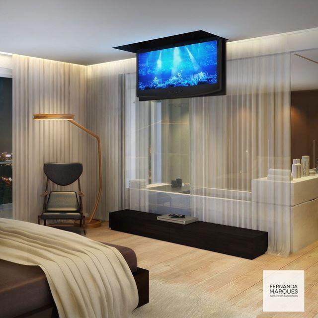 Super luxo  dormitório com banheira e TV em lift Hyper luxury