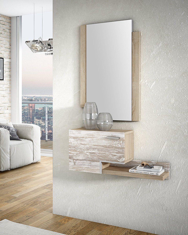 Slaap Recibidor Espejo Medidas Recibidor 75x35x20cm Medidas  # Muebles Carreiro