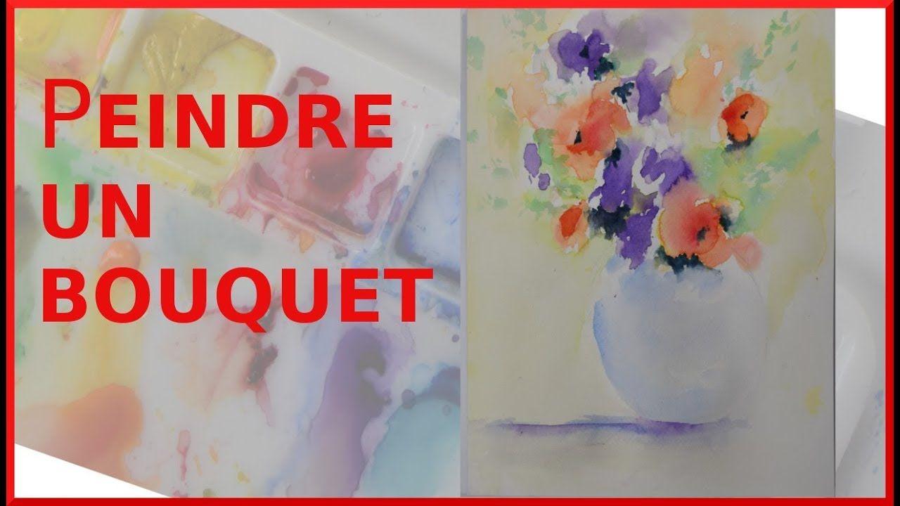 Da Buter L Aquarelle Avec Un Bouquet Tout En Couleur Youtube