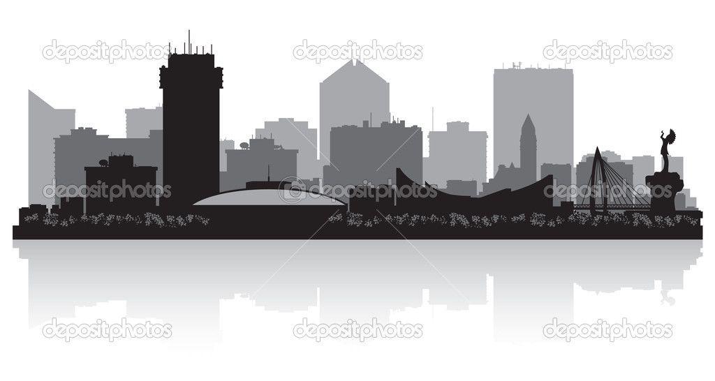 Wichita Kansas City Skyline Silhouette City Skyline Silhouette Kansas City Skyline Skyline