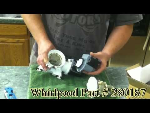 Whirlpool Washing Machine Drain Pump Replacement And Diagnostic Youtube Whirlpool Washing Machine Drain Pump Front Loading Washing Machine