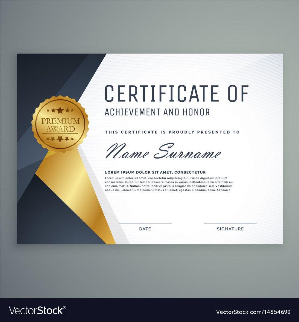 Premium Certificate Of Appreciation Award Design. Download
