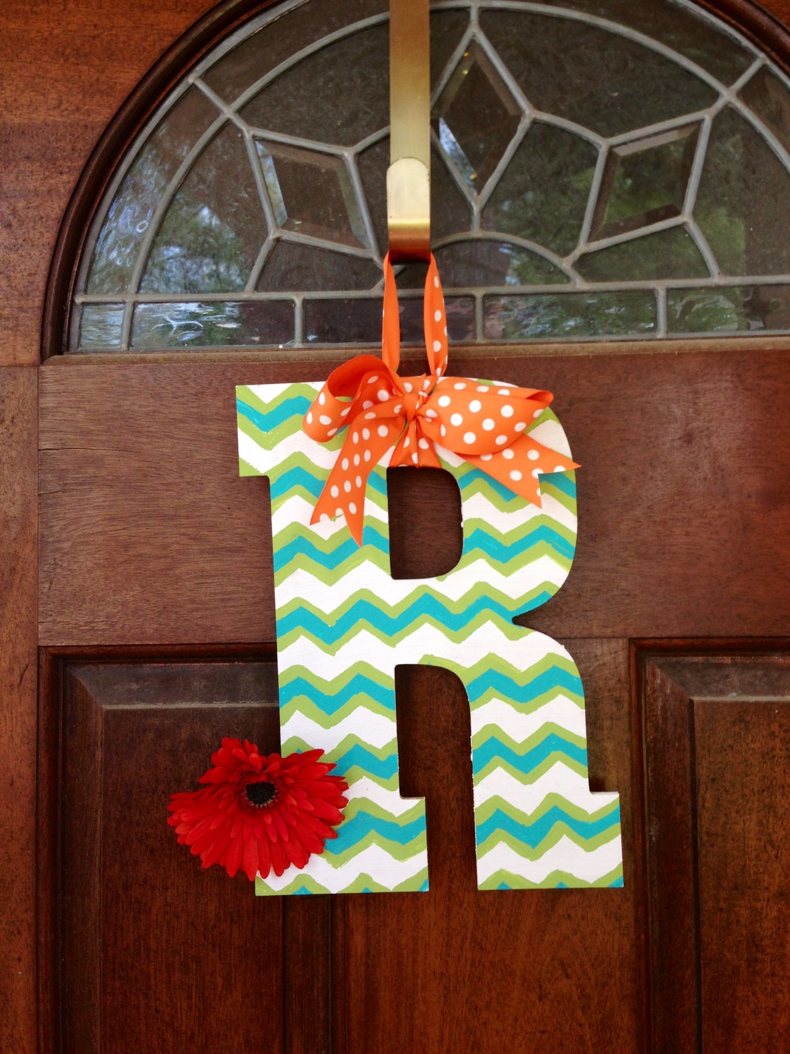 Chevron Painted Wooden Letter Love This For The Front