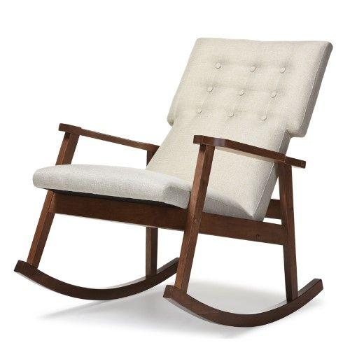 Baxton Studio Agatha Mid Century Modern Rocking Chair